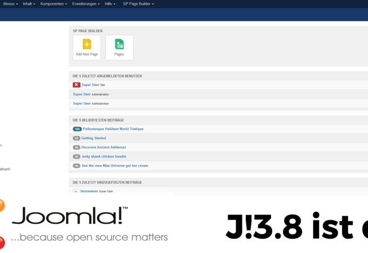 Joomla 3.8 – das neue Release ist da!